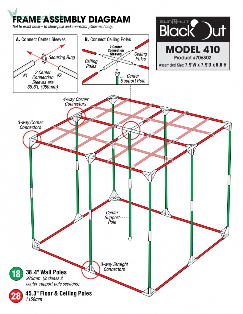 Model 706302  sc 1 st  EastWestHydro.com & Sun Hut - Blackout 410 Grow Tent (706302) | EastWestHydro