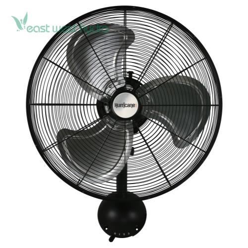 Brackets For Wall Mount Oscillating Fans : Hurricane pro high velocity metal wall mount fan in