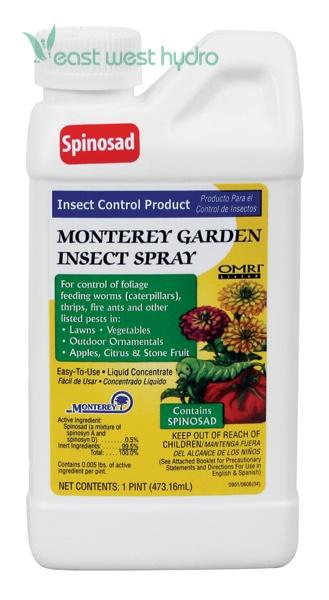 Monterey garden insect spray w spinosad pint 704606 Monterey garden insect spray with spinosad