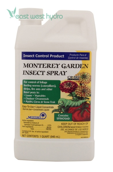 Monterey Garden Insect Spray W Spinosad Quart 704607 Eastwesthydro
