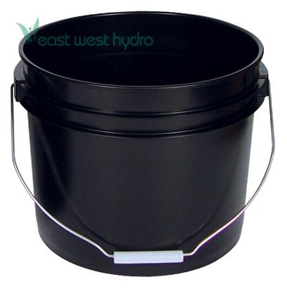 Sunlight Supply 3 Gallon Black Bucket W Wire Handle