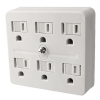Power All - 6 Outlet Grounded Adapter 125 Volt 15 Amp (780040)
