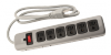 Power All - Indoor Metal Surge Strip 6 Outlet 125 Volt 4ft Cord 14 Gauge 15 Amp