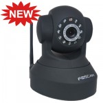 Foscam Wireless IP Camera  Pan/Tilt WPA - Black (FI8918W)