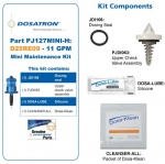 Dosatron - Mini Seal Kit for Water Powered Doser 11 GPM 1:1000 to 1:112 (709024)