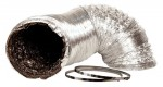 Ideal-Air - 8IN X 25Ft Silver/Black Ducting (736973)