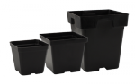 Sunlight Supply - Pot 4in x 4in x 3.5in Black Plastic (724044)