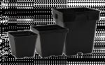 Sunlight Supply - Pot 4in x 4in x 3.5in Black Plastic (724044)